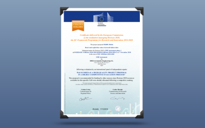 DMD Solutions receives the Seal of Excellence award from the H2020 program